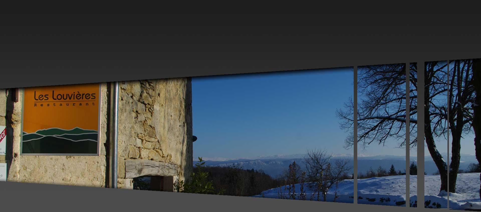 restaurant gastronomique Les Louvieres dans le Jura proche de Oyonnax, Lons Le Saunier et Moirans en Montagne, lac de Vouglans